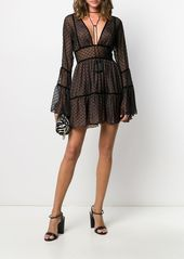 Dsquared2 flocked tulle flounce dress