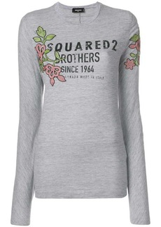 Dsquared2 floral logo printed top