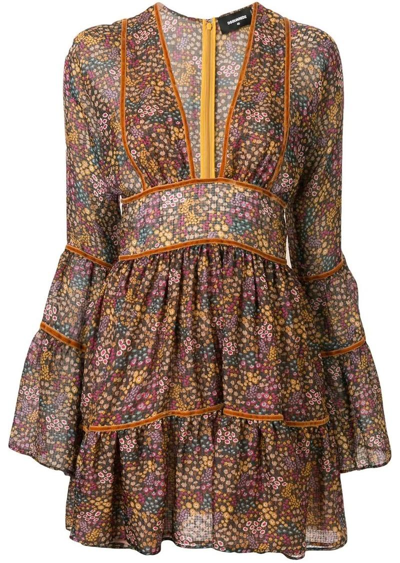 Dsquared2 floral-print flared short dress