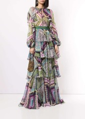 Dsquared2 floral-print layered maxi dress