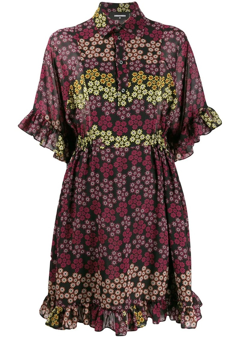 Dsquared2 floral print shirt dress