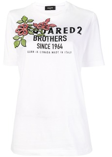 Dsquared2 flower logo print T-shirt