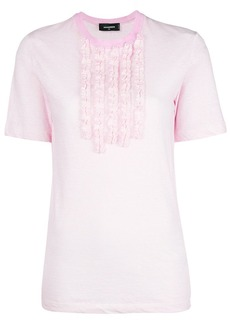 Dsquared2 frill embellished T-shirt