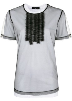 Dsquared2 frill sheer layered T-shirt