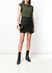 Dsquared2 frill trim sleeveless top