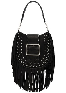 Dsquared2 Fringed Leather Shoulder Bag