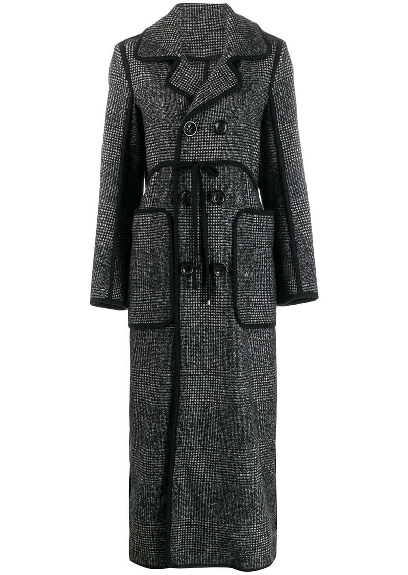 Dsquared2 glen check double breasted coat