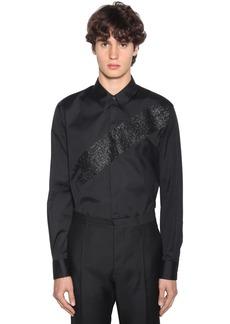 Dsquared2 Glittered Stretch Poplin Shirt