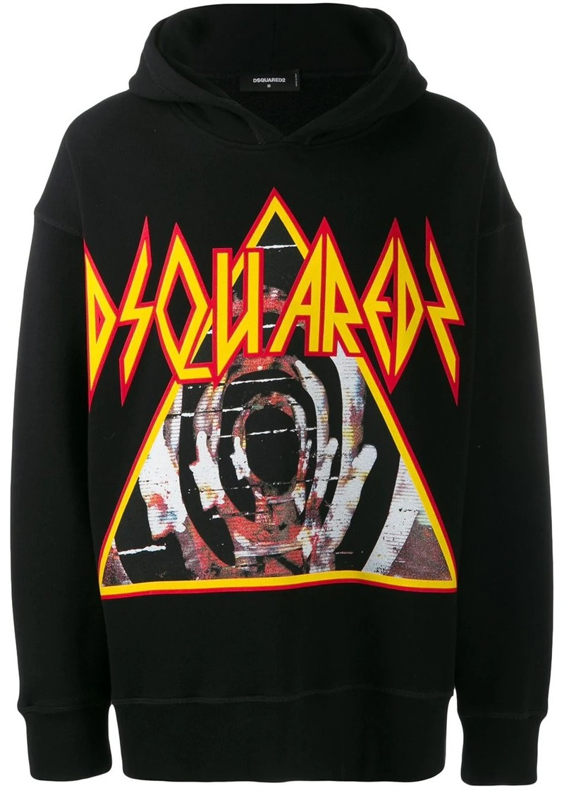 Dsquared2 graphic print hoodie