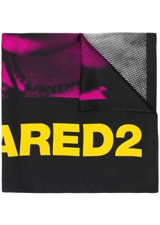 Dsquared2 graphic print logo scarf