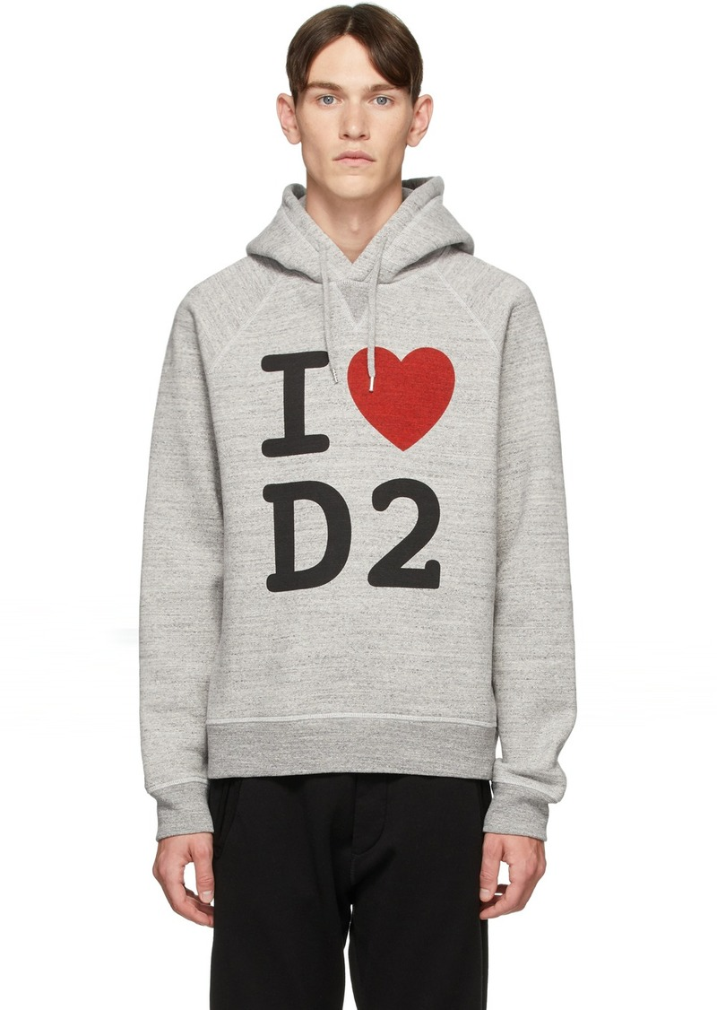 Dsquared2 Grey 'I Love D2' Hoodie