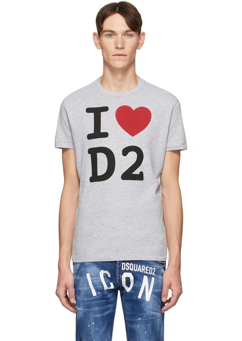 Dsquared2 Grey 'I Love D2' T-Shirt