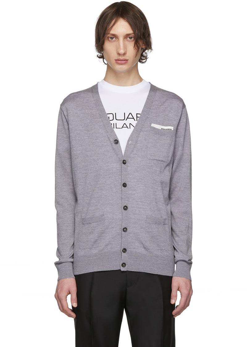 Dsquared2 Grey Pocket Cardigan