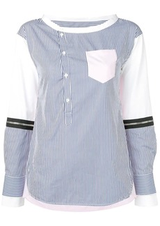 Dsquared2 hairline stripe patchwork blouse
