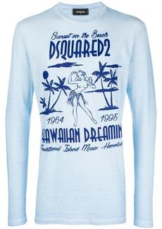 Dsquared2 Hawaii logo patch sweatshirt