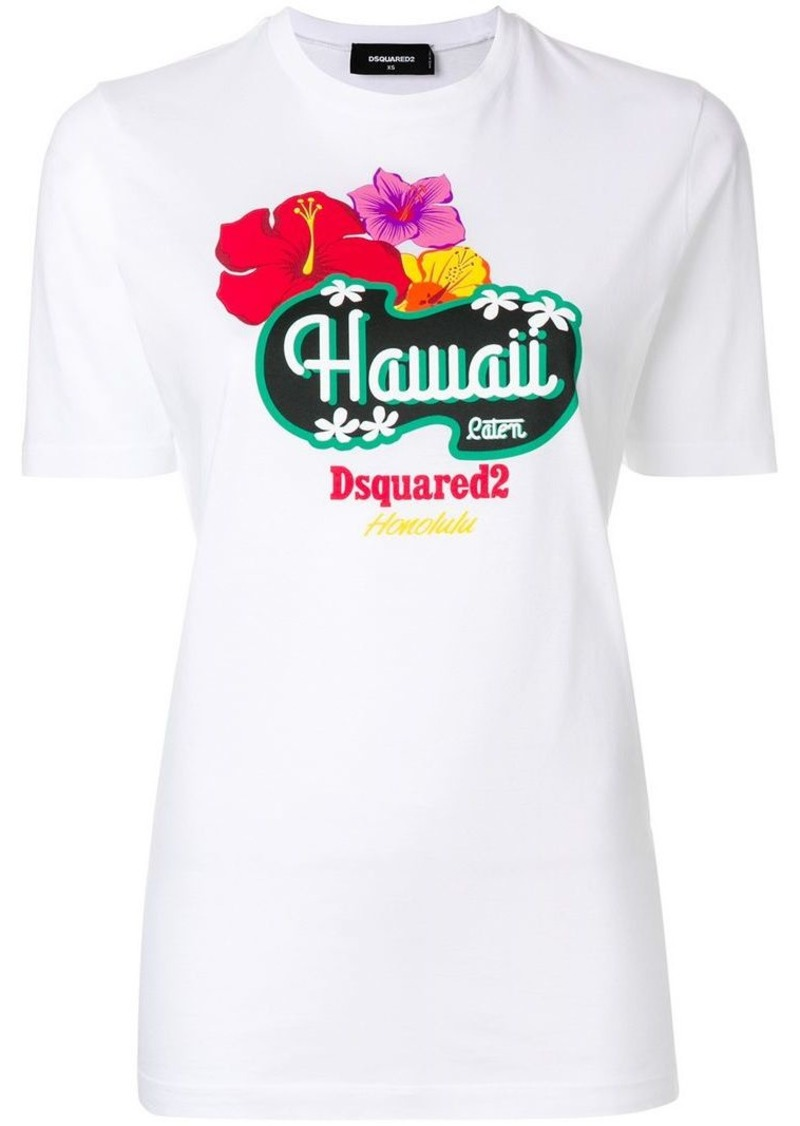 ef0f69a35 Dsquared2 Hawaii print T-shirt | Tees