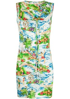 Dsquared2 Hawaiian print dress