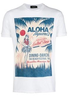 Dsquared2 Hawaiian print T-shirt