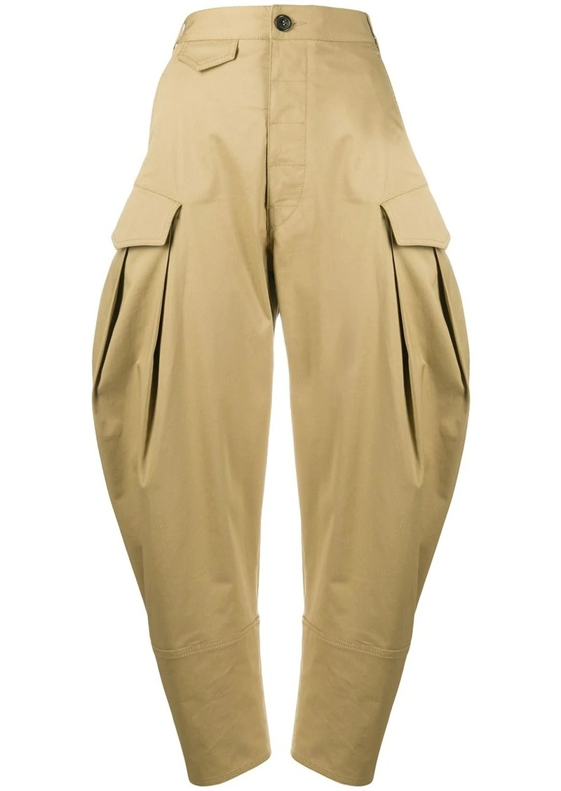 Dsquared2 high-rise cropped balloon-leg trousers