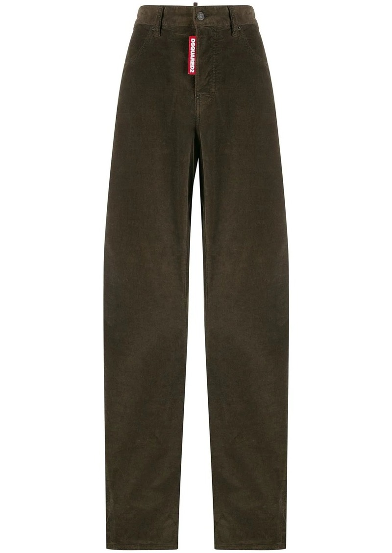 Dsquared2 high rise wide leg trousers