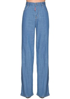Dsquared2 High Waist Bohemian Denim Jeans