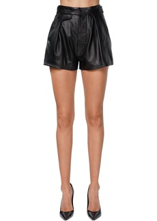 Dsquared2 High Waist Leather Shorts