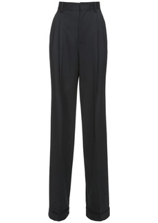 Dsquared2 High Waist Stretch Wool Wide Leg Pants