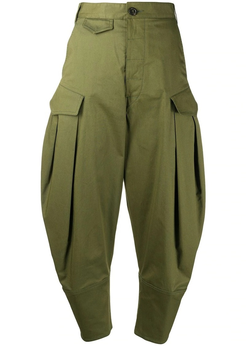 Dsquared2 high-waist tapered trousers