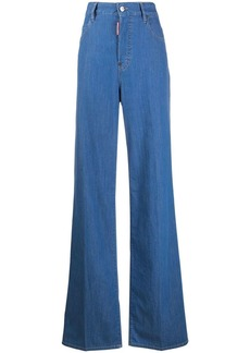 Dsquared2 high waist wide leg jeans