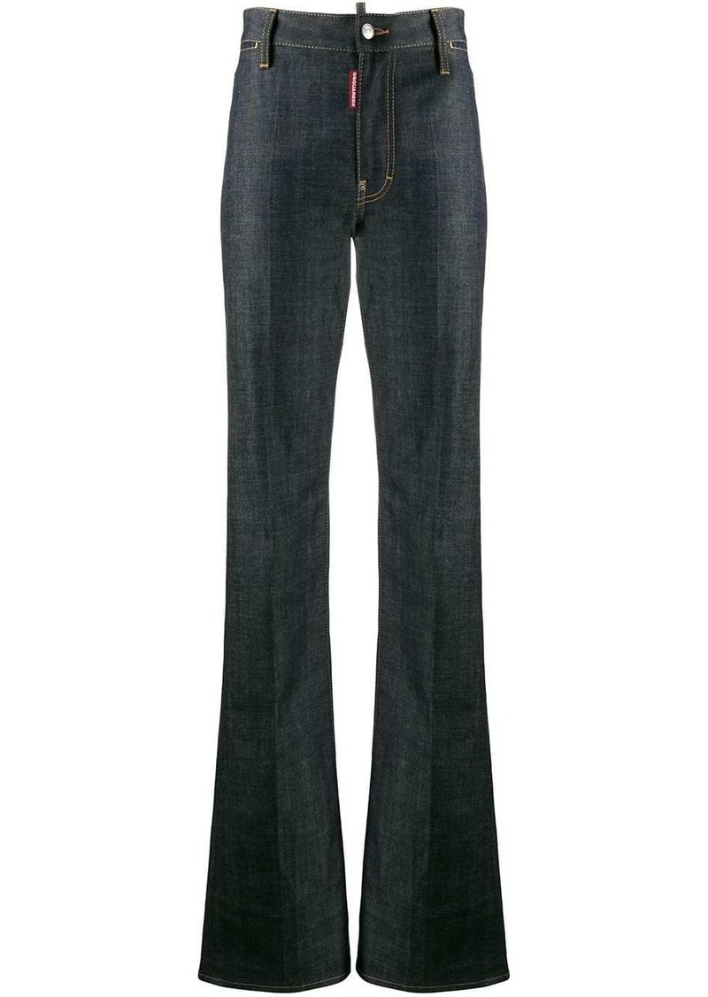 Dsquared2 high-waisted bootcut jeans