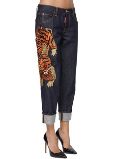 Dsquared2 Hockney Denim Jeans W/tiger Patch