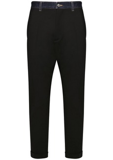 Dsquared2 Hockney Wool Pants W/ Denim Waistband