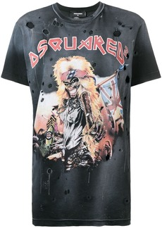 Dsquared2 holey band T-shirt