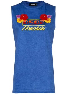 Dsquared2 Honolulu print tank top