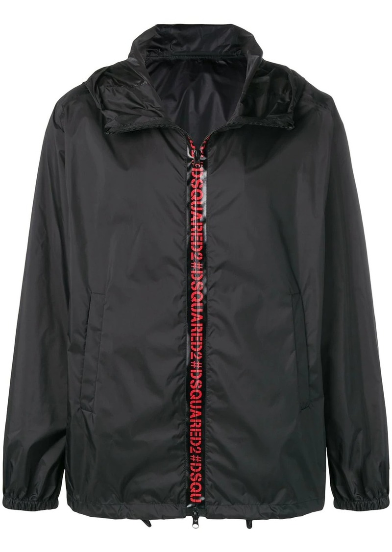 Dsquared2 hooded logo windbreaker