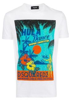 Dsquared2 Hula Dance print T-shirt