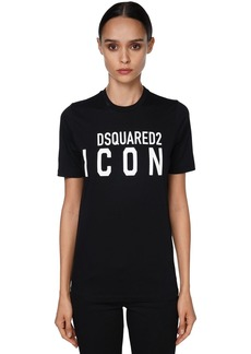 Dsquared2 Icon & Logo Printed Jersey T-shirt