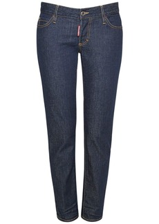 Dsquared2 Icon Jennifer Crop Cotton Denim Jeans
