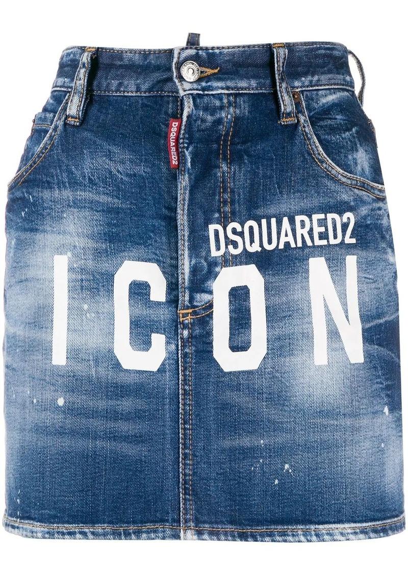 Dsquared2 ICON logo denim skirt