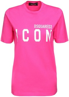 Dsquared2 Icon Logo Print Cotton Jersey T-shirt