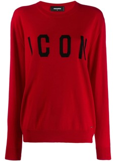 "Dsquared2 ""icon"" logo sweater"