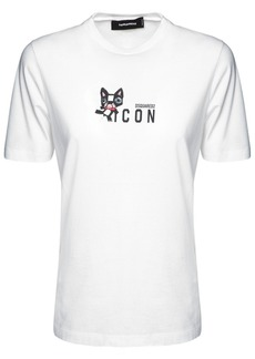 Dsquared2 Icon Mascot Ren Cotton Jersey T-shirt