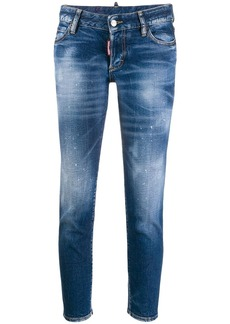 Dsquared2 Icon paint-splattered slim-fit jeans