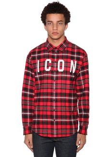 Dsquared2 Icon Print Cotton Blend Shirt
