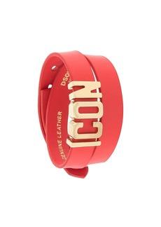 Dsquared2 Icon wraparound cuff bracelet