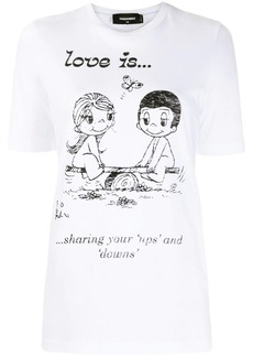 Dsquared2 illustration-print T-shirt