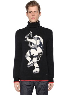 Dsquared2 Intarsia Wool Blend Sweater