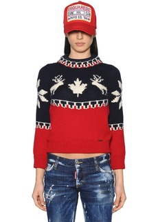 Dsquared2 Intarsia Wool Knit Sweater