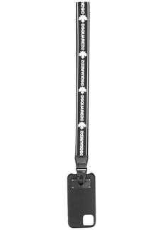 Dsquared2 logo-embellished strap iPhone 11 case