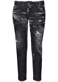 Dsquared2 Jennifer Crop Thunderstorm Denim Jeans